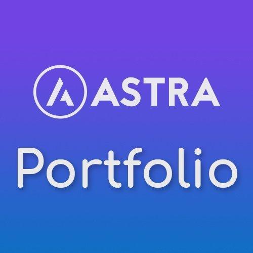Plugin para el tema Astra Theme que te permite crear porfolios atractivos