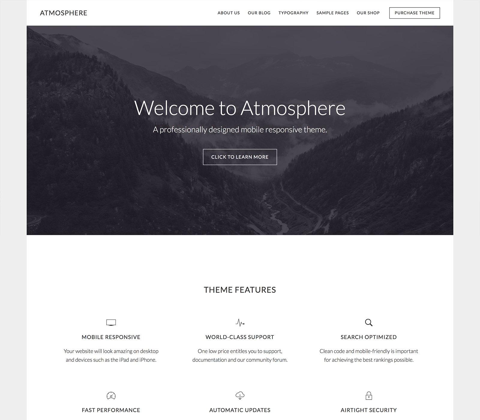 Atmosphere Pro - Un tema para Genesis Framework y preparado para WooCommerce