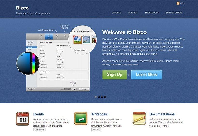 Bizco - Theme para WordPress orientado a empresas o servicios
