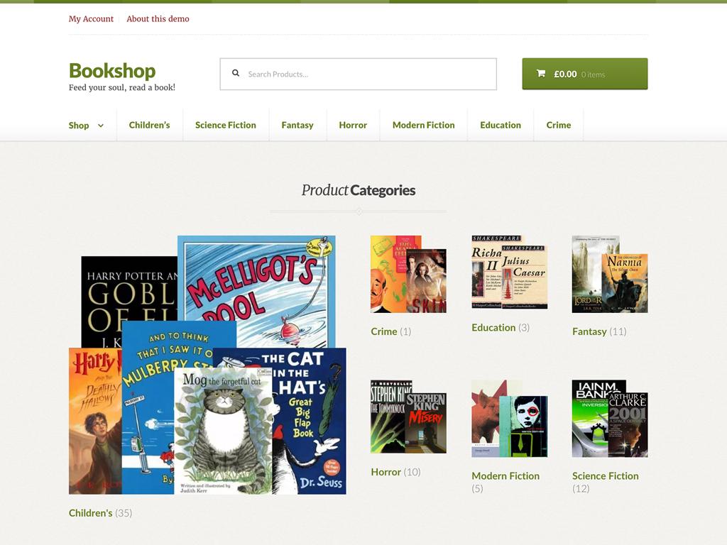Bookshop - Un tema para WooCommerce que trabaja bajo Storefront