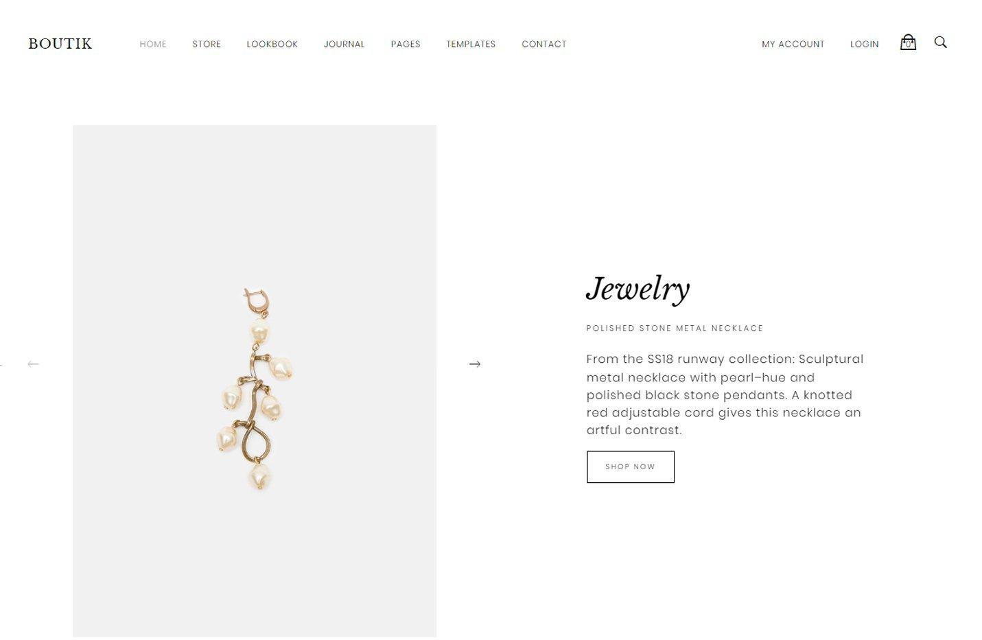 Boutik - Un tema para Genesis Framework y preparado para WooCommerce
