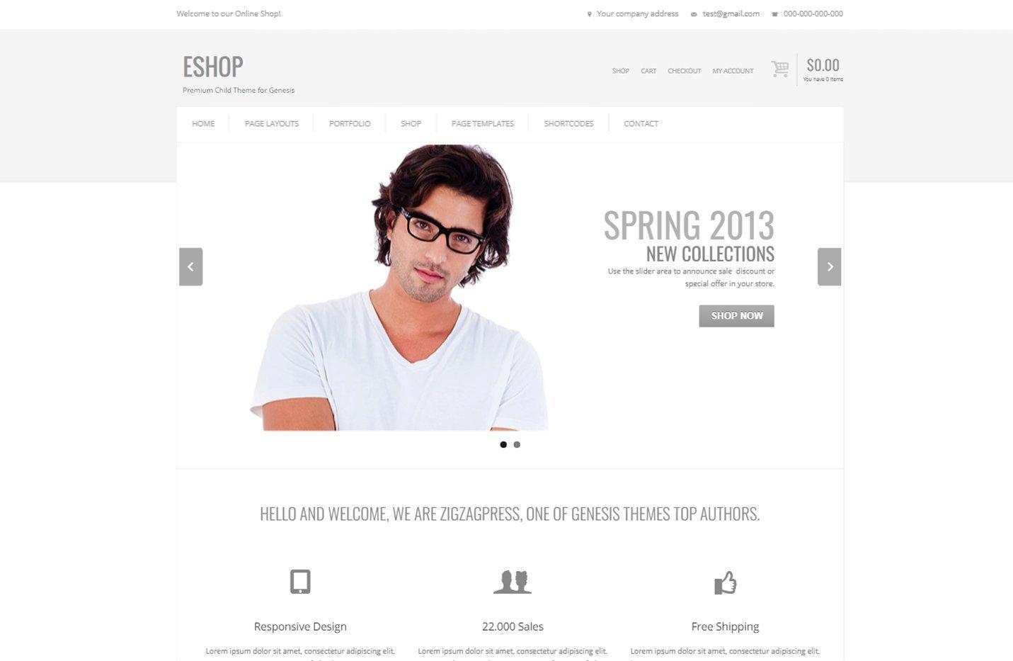 Eshop - Un tema para Genesis Framework y preparado para WooCommerce