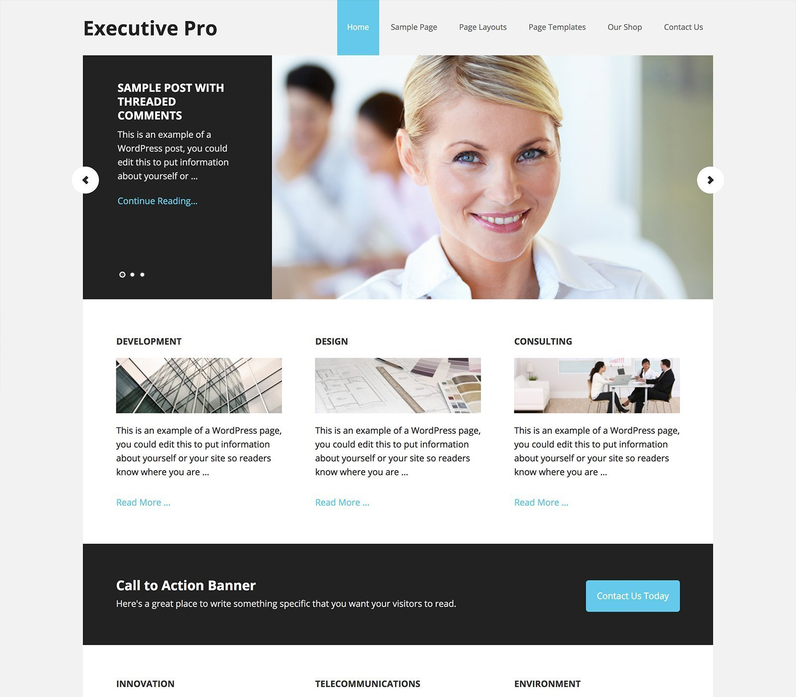 Executive Pro - Un tema para Genesis Framework y preparado para WooCommerce