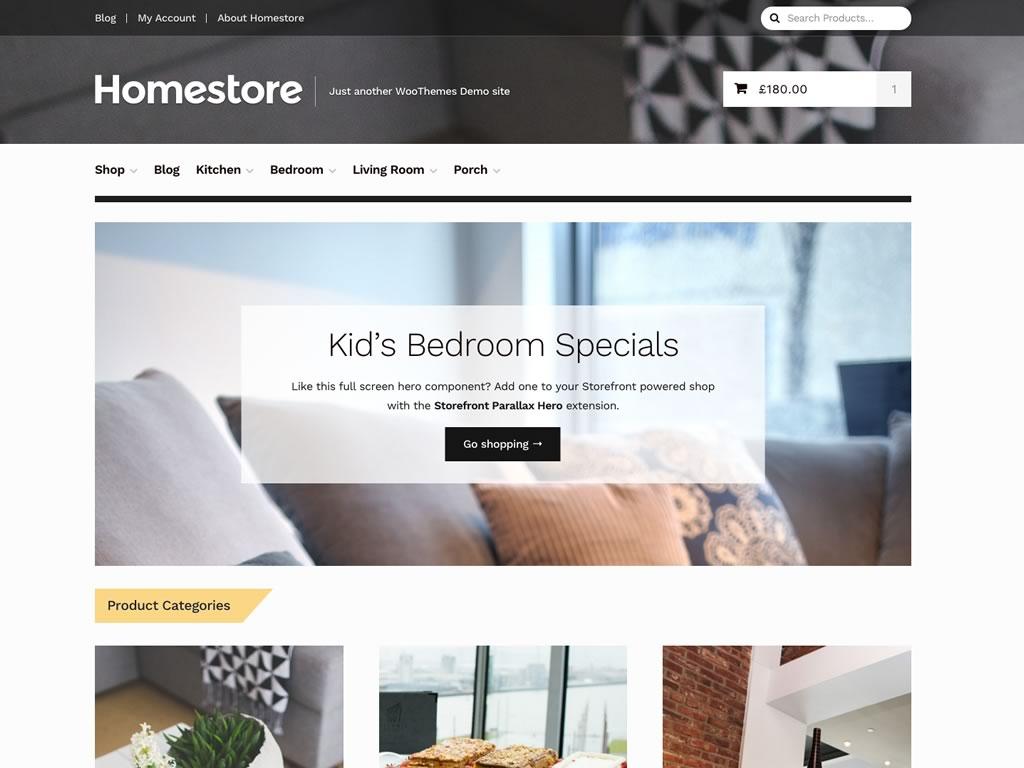 Homestore - Un tema para WooCommerce que trabaja bajo Storefront