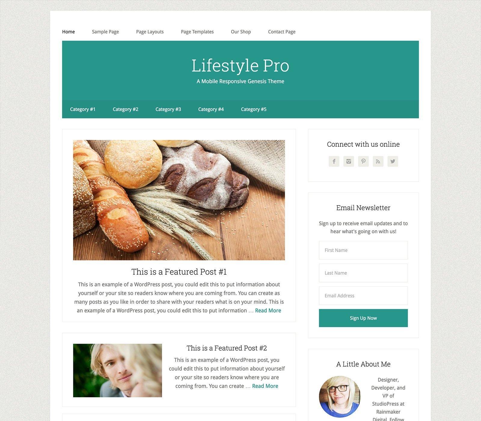 Lifestyle Pro - Un tema para Genesis Framework y preparado para WooCommerce