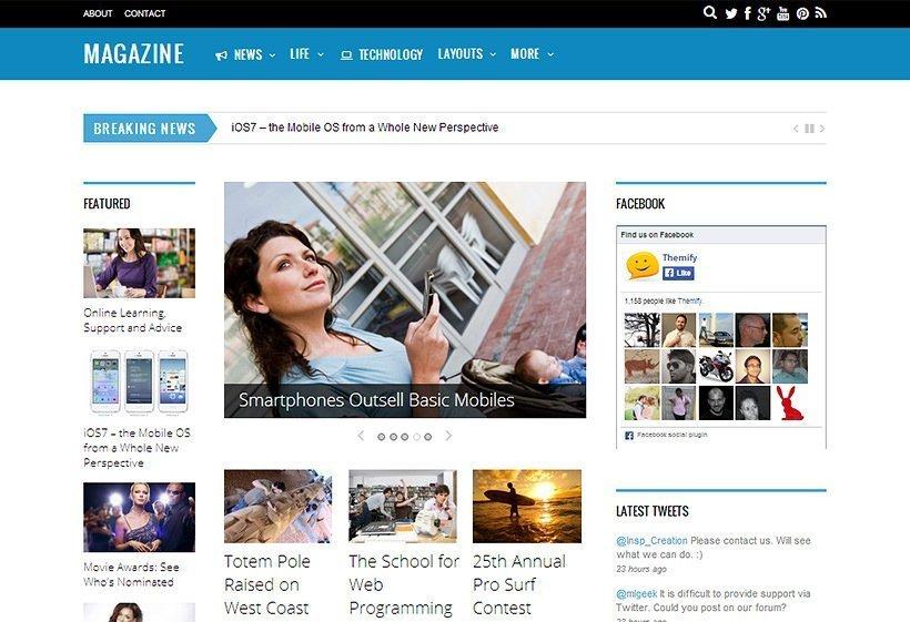 Magazine - Un tema para WordPress perfecto para revistas, periódicos y cualquier web de contenido editorial