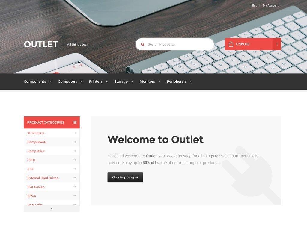 Outlet - Un tema para WooCommerce que trabaja bajo Storefront