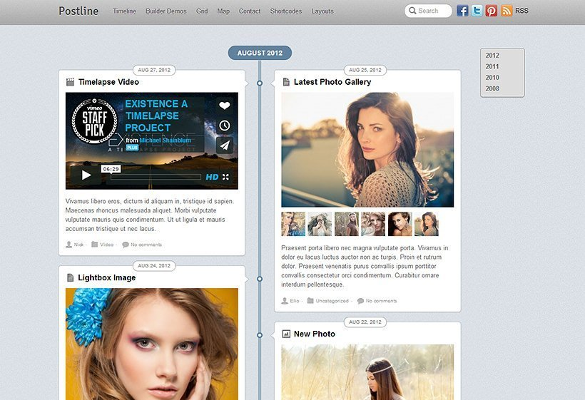 Postline - Theme para WordPress orientado a bloggers