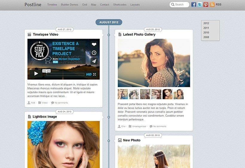 Postline - Theme para WordPress orientado a bloggers