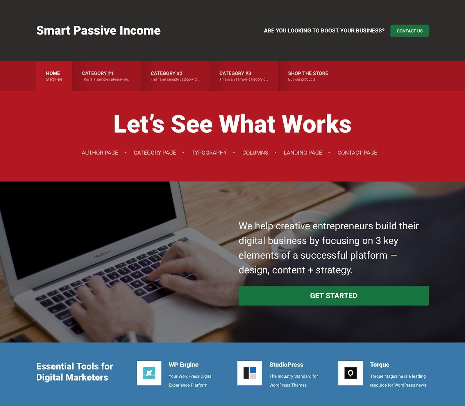 Smart Passive Income Pro - Un tema para Genesis Framework y preparado para WooCommerce