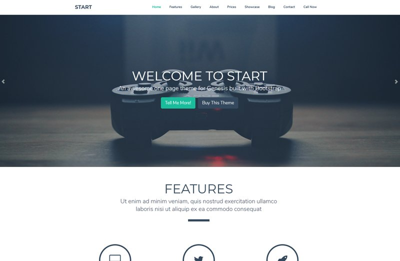 Start - Un tema para Genesis Framework diseñado con Bootstrap y Parallax