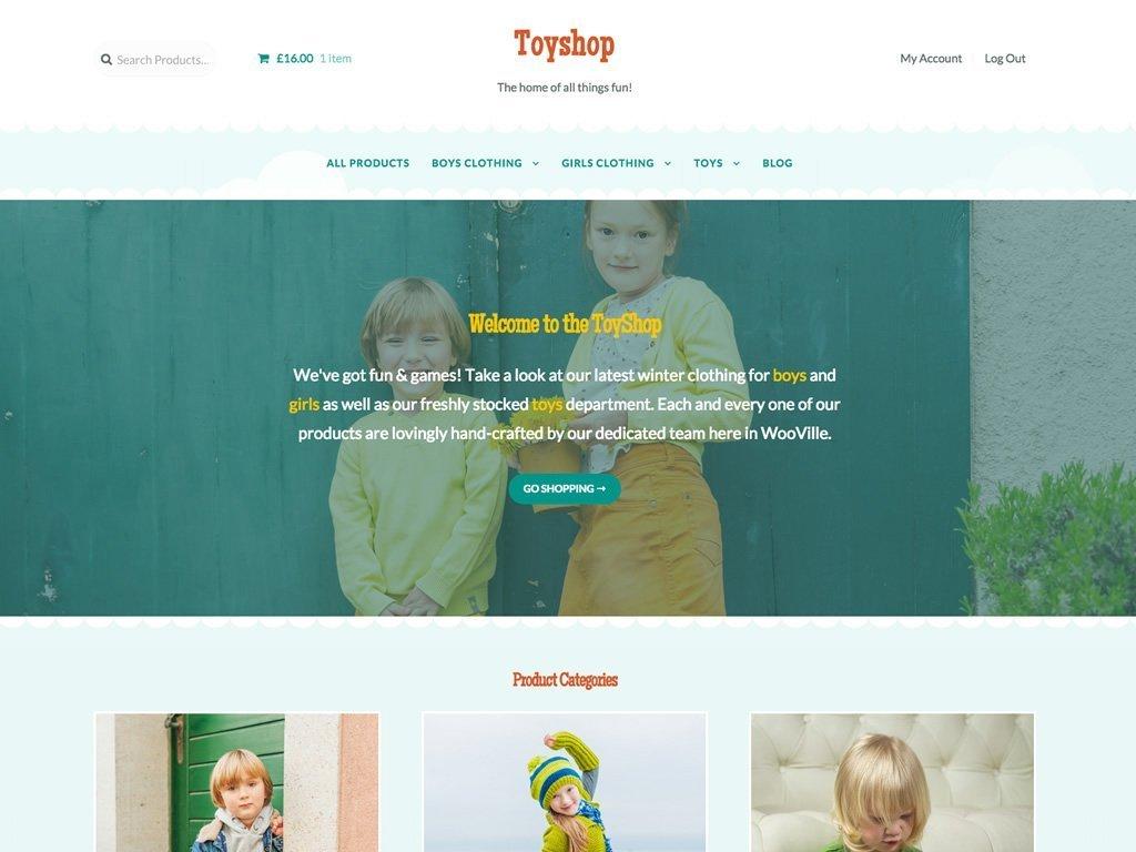 ToyShop - Un tema para WooCommerce que trabaja bajo Storefront