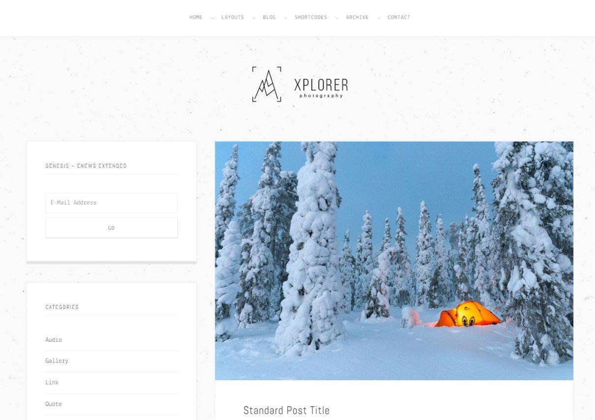 Xplorer - Un tema para Genesis Framework