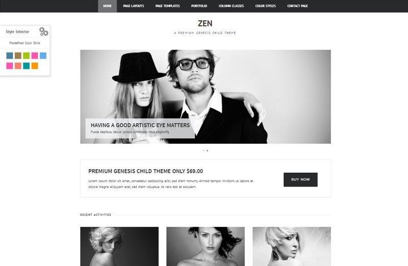 Zen - Un tema para Genesis Framework con un diseño minimalista
