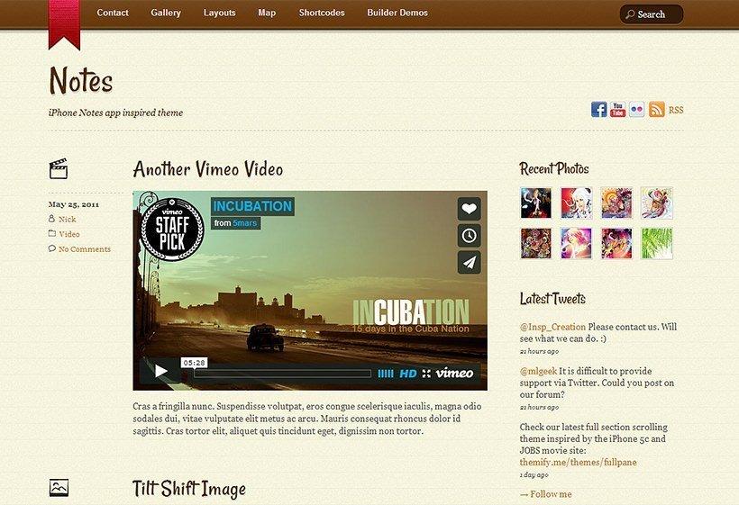Theme para publicar contenido en WordPress